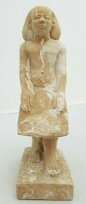 ANCIENT EGYPTIAN ANTIQUES STATUE Of Thutmose III EGYPT HAND Carved Stone BC