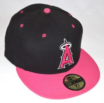 Los Angeles Angels of Anaheim New Era 59FIFTY Fitted Cap Hat - Size  7 5 3028eccadb20