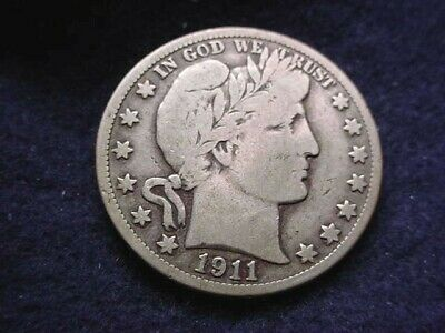 1911 Barber Half Dollar Great Coin--No Reserve!!!    #110