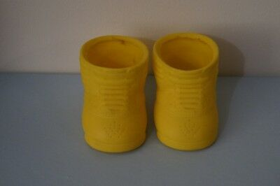 CPK yellow doll shoes (fits Cabbage Patch Kids dolls)
