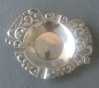 Late 19th~Early 20th Century South American Spanish Coin Silver Cigar Ashtray