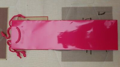 25 x Wine Gift Bags Pink Glossy Laminate + Handle