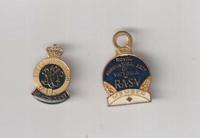 Rasv (Royal Agricultural Society Of Victoria ) 1977 Member Badges (2).