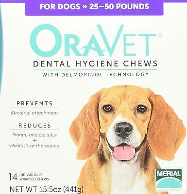 Merial Oravet Dental Hygiene Chew For Medium Dogs 25-50 Lbs Dental Treats For