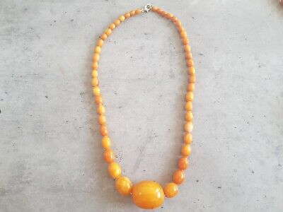 Vintage / Antique Amber / Awesome Condition / Coloured Acrylic Beads / 36 grams