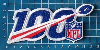 """2019 NFL Football 100th Anniversary Seasons Patch Football Jersey 5"""" embroid"""