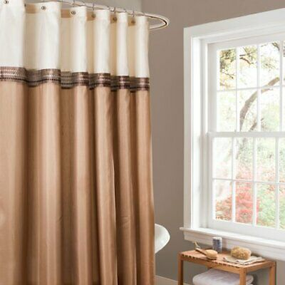 Lush Decor Terra Shower Curtain 72 By Inch Beige Ivory