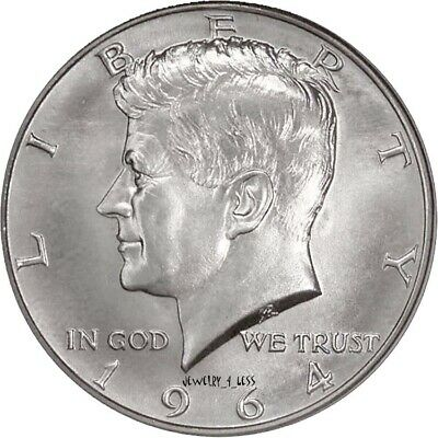 1964 Kennedy Half-Dollar - 90% Silver - Choice Brilliant Uncirculated (BU)