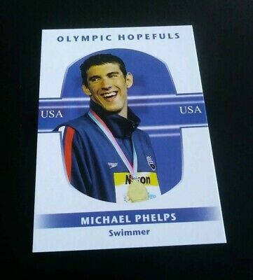 Michael Phelps USA Swimmer Trading Card 2008 GTC Swimming Schwimmen Olympia