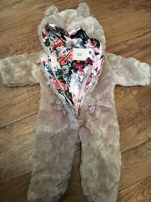 Ted Baker Baby Girls Super Soft Fleece All In One Age  3-6 Months