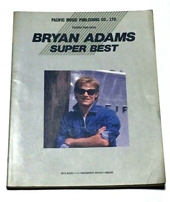 Bryan Adams Super Best Japan Band Score Book Guitar Tab