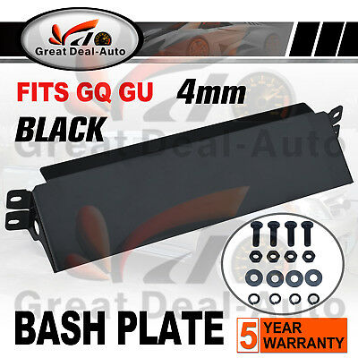 Front Steering Guard Fits Nissan Patrol GQ GU 4mm Black Bash Plate HEAVY DUTY