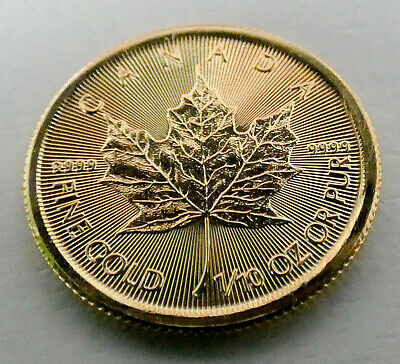 1/10 oz Gold Maple Leaf 5 Dollar Kanada Goldmünze 999,9