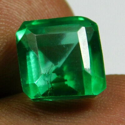 5.10 Ct Natural Transparent Zambian Emerald Loose Gemstone GIE Certified