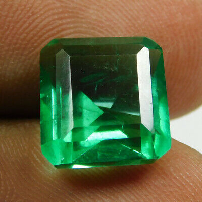 6.90 Ct Natural Transparent Zambian Emerald Loose Gemstone GIE Certified