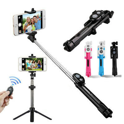 Wireless Remote Control Extendable Selfie Stick Monopod Tripod Phone Holder