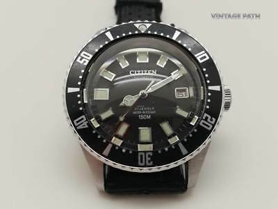 CITIZEN 52-0110 AUTOMATIC CHALLENGE DIVER WATCH FOR MEN CIRCA 1977s (GOOD COND)
