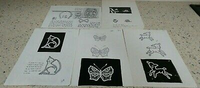 Lot 12 : Collection of 6  Russian Tape Lace Patterns  for Bobbin Lace Making