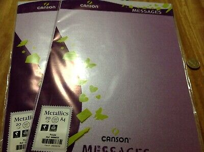 Canson Metallics A4 120gsm 40 Pack Acid Free Purple