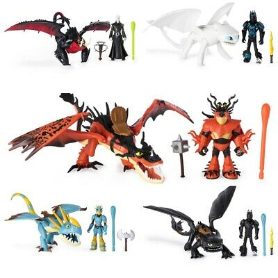 Dreamworks How To Train Your Dragon Hidden World Dragon With Armored Viking Sets