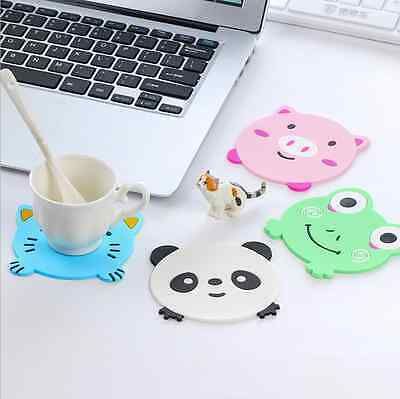 1Pc Cartoon Coasters Silicone Placemat Cushion Mug Tableware Cup Tea Pad Mat