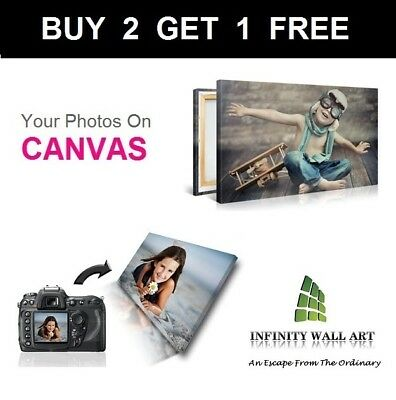 Personalised Photo on Canvas Art Print Framed A0 A1 A2 A3 A4 A5 Ready to Hang`CA