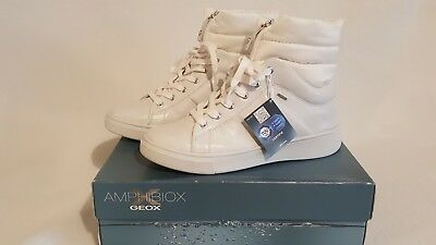 Geox Amphibiox D Mayrah Abx White Leather Waterproof Ankle Rrp £130 Uk 7 e0364e20cb1