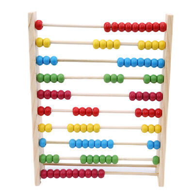 Wooden Children Counting Bead Abacus Maths Educational Kids Education Toy LH
