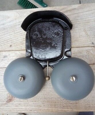 Vintage Industrial Wall-Mounted Fire Alarm / Phone Bell / Panic Bell