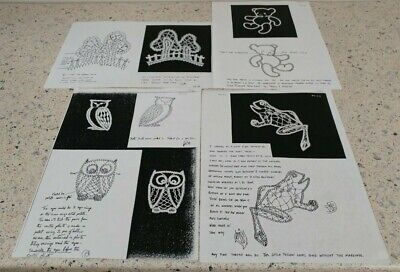 Lot 14 : Collection of 6  Russian Tape Lace Patterns  for Bobbin Lace Making