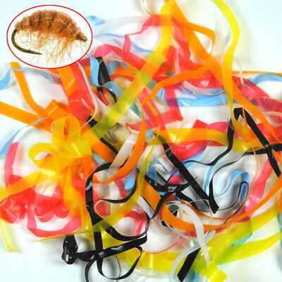 7 Colors 1meter Nymph Scud Back Super Stretch Rubber Thin Film Tying Material