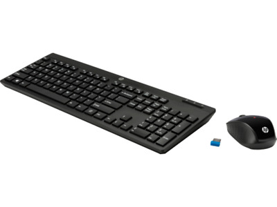 bcce94d18cb HP 200 Wireless 2.4GHz Desktop Mouse Keyboard English Hebrew Combo USB  Z3Q63AA