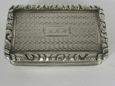 William IV Antique Sterling Silver Vinaigrette by Nathaniel Mills c1835