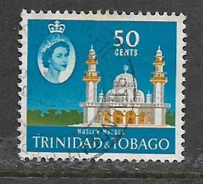 Trinidad & Tobago 1960 Qe11 Definitive Series - Used 50 Cents Stamp
