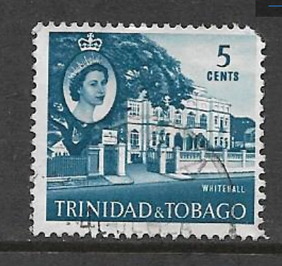 Trinidad & Tobago 1960 Qe11 Definitive Series - Used 5 Cents Stamp