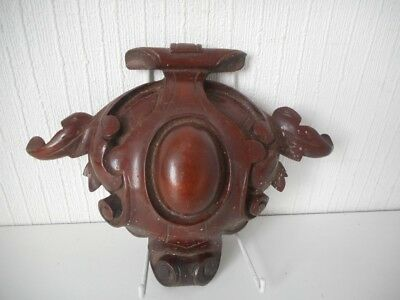 Beautifully 19th Century Carved Wooden Wall Clock Mount - Black Forrest?