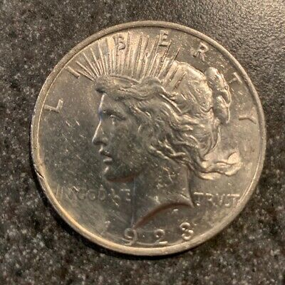 1923 Peace Silver Dollar BU Gem Uncirculated Lustrous Philadelphia Mint 2