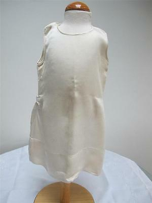 Vintage 1920s Cream Crepe Childs Girls Drop Waist Petticoat Slip