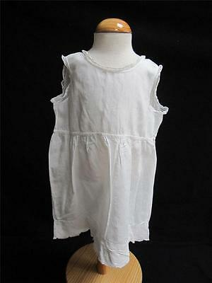 Antique Victorian Babys White Petticoat -  Cotton & Lace Trim - c1890