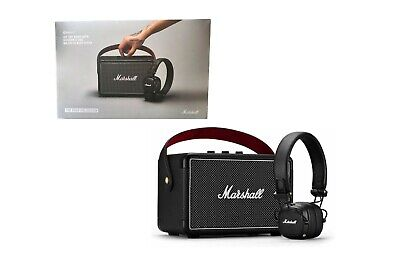 Black Marshall Acton Bluetooth Portable Wireless Compact Home Stereo Speaker 3.5