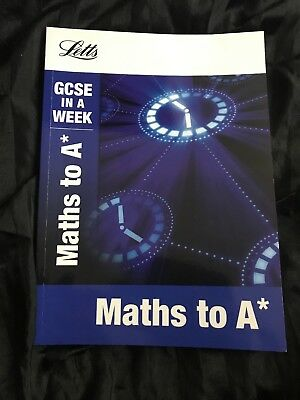 Maths to A* (Letts GCSE in a Week Revision Guides) by Fiona Mapp (Paperback,...