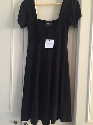 ASOS Maternity Skater Dress With Sweetheart Neck & Cap Sleeves ~10 UK ~ BLACK