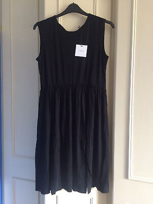 ASOS Maternity Skater Dress Bow Back ~18 UK ~ Black ~ BNWT