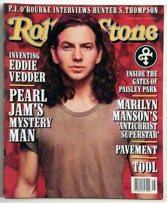 Rolling Stone Magazine November 28, 1996 - Eddie Vedder Cover