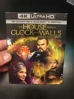 The House With A Clock In Its Walls 4K Ultra Hd   Blu Ray + Dig Copy  Brand New