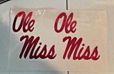 OLE MISS REBELS Chrome Vinyl Full Size Football Helmet Decals ... 78d72800c