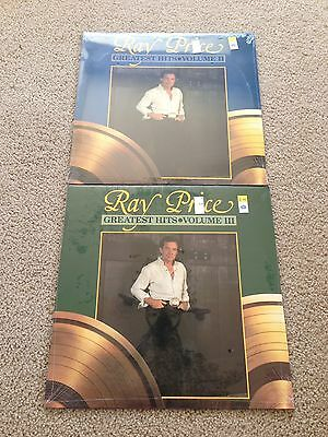 2 Ray Price LPs Greatest Hits Volume II & III - Both  Sealed New
