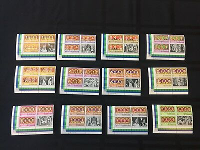 Plate Blocks of English Monarchs St. Vincent 1977 Scott 483-494, MNH