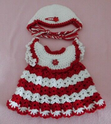 """Wellie Wishers Clothes Red White Dress & Hat Fits American Girl Wellie 14.5"""""""