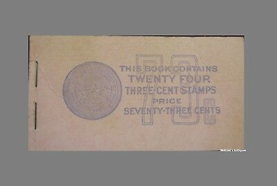 1938 Thomas Jefferson 3 Cent Stamp Book With 11 Stamps